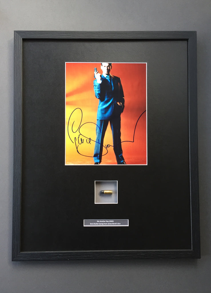 Die Another Day (2002) - Framed 9mm Bullet Casing & Autograph
