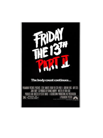 Friday 13th Part II (1981) - Original Cinema Poster. Condition C6