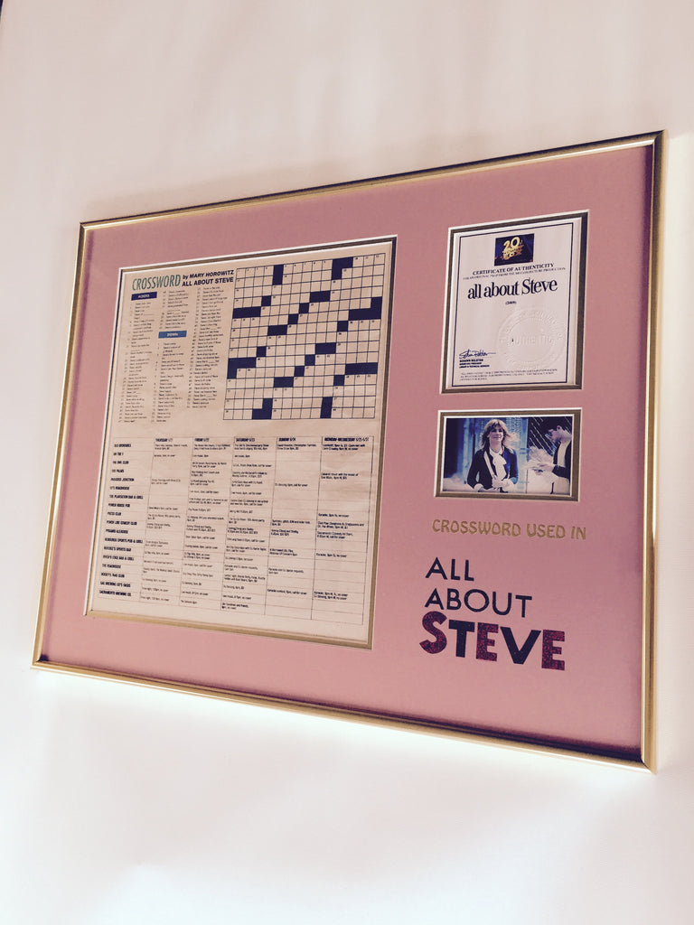 All About Steve (2010) - Mary's (Sandra Bullock) Crossword Puzzle