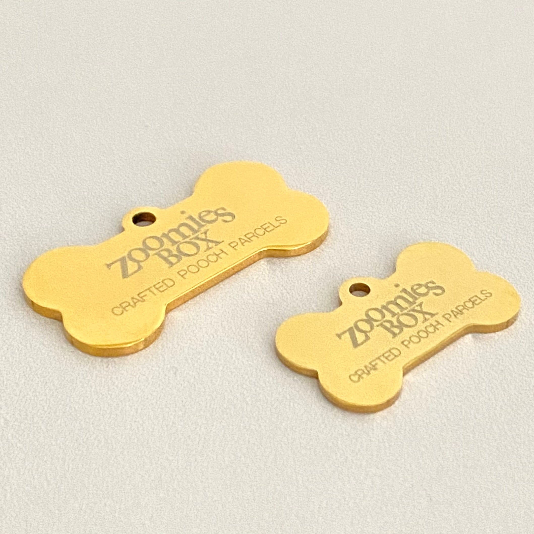 Engraved Dog ID Tags - Zoomies Box