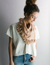 Load image into Gallery viewer, Plant Dyed Cotton Scarf in Blush