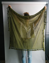 Load image into Gallery viewer, Plant Dyed Cotton Scarf in Olive