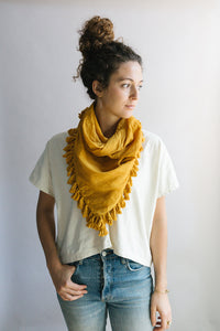Plant Dyed Cotton Scarf in Sol