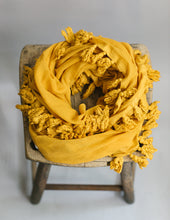 Load image into Gallery viewer, Plant Dyed Cotton Scarf in Sol