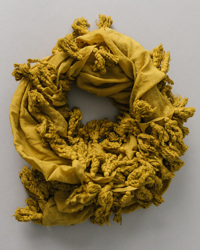 Plant Dyed Cotton Scarf in Golden Milk