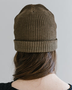 Plant Dyed Eco-cotton watchcap in Walnut