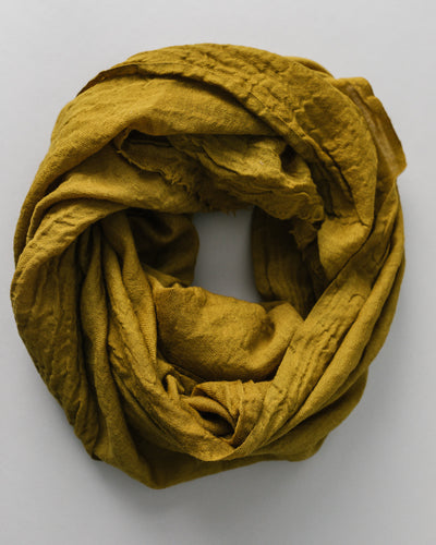 Plant Dyed Wool Scarf in Olive