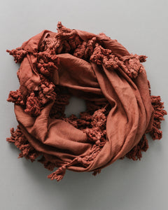 Plant Dyed Cotton Scarf in Terracotta