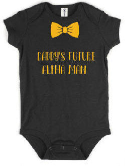 Alpha Man Baby Body Suit