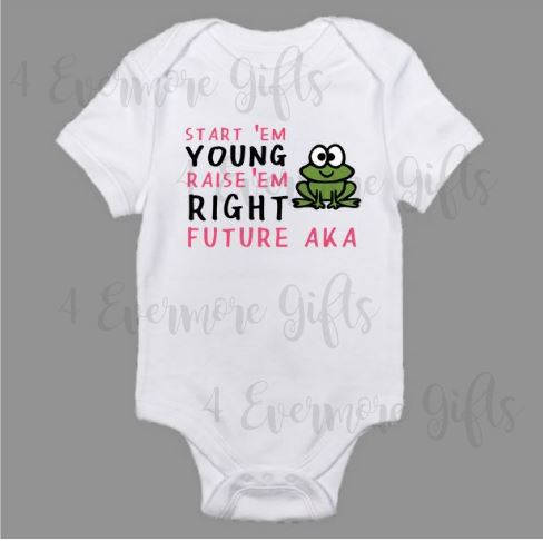 Alpha Kappa Alpha Raise 'em Right Baby Body Suit