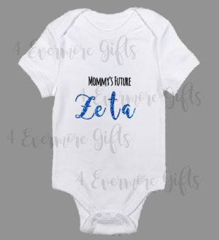 Mommy's Future Zeta | Zeta Phi Beta Inspired Baby Body Suit