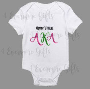 Mommy's Future Alpha Kappa Alpha Baby Body Suit