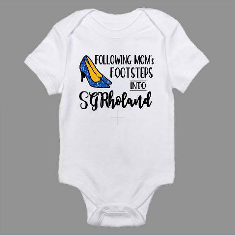 Following Mom's Footsteps Into SGRhoLand Sigma Gamma Rho Baby Body Suit