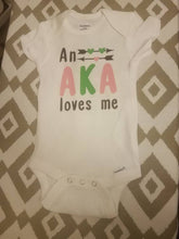 Load image into Gallery viewer, An AKA Loves Me Baby Body Suit