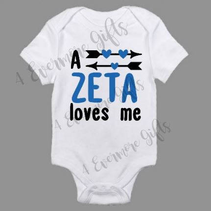 A Zeta Loves Me Onesie | Zeta Phi Beta Inspired Baby Body Suit