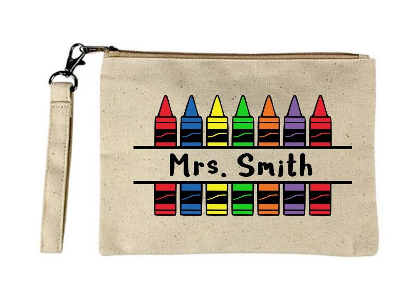 Teacher Crayon Wristlet