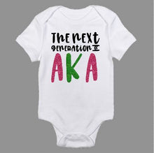 Load image into Gallery viewer, The Next Generation of AKA Baby Bodysuit