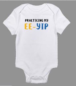 Practicing My Ee-Yip Sigma Gamma Rho Baby Body Suit