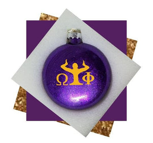 Omega Psi Phi Christmas Ornament