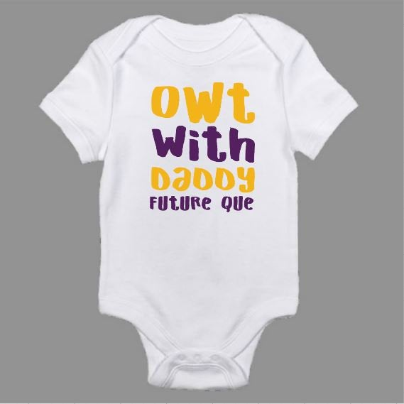 Owt With Daddy Omega Psi Phi Themed Baby Body Suit