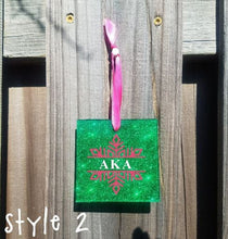 Load image into Gallery viewer, Alpha Kappa Alpha Snowflake Christmas Ornament