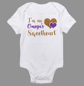 Omega Psi Phi's Sweetheart Baby Body Suit