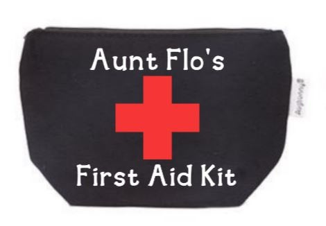 Aunt Flo's First Aid Kit Tampon Pouch with Free Gift | Period Bag