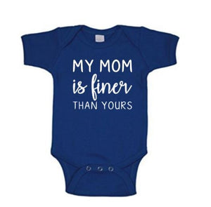 My Mom Is Finer Zeta Phi Beta Inspired Baby Body Suit
