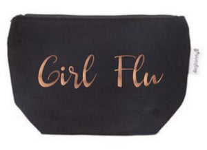 Girl Flu Rose Gold Tampon Pouch with Free Gift | Period Bag