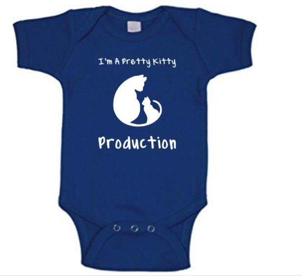 Pretty Kitty Production Zeta Phi Beta Inspired Baby Body Suit
