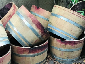 Half Wine Barrel Planters