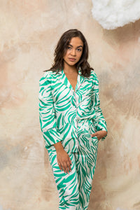 Green Zebra Lounge Set