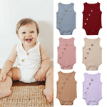 My Cotton Button Romper
