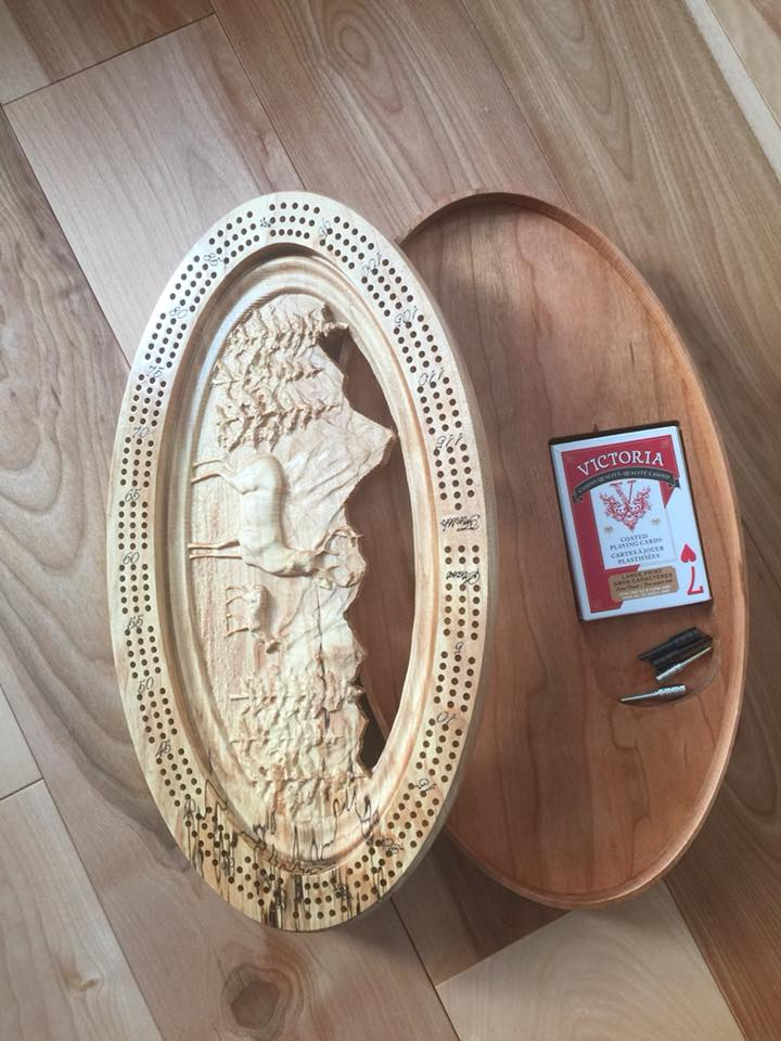 Cribbage Board - Robert H Woodworks