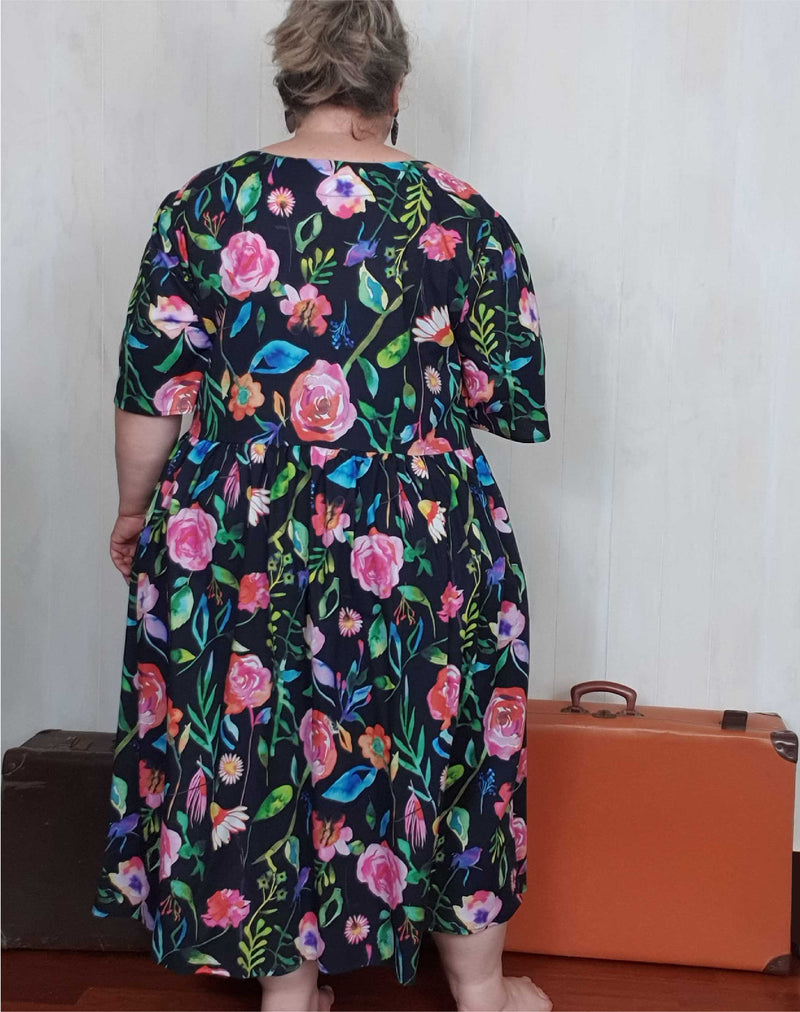 Shop Plus Size Dresses | Plus Size Millican Frock Cotton Floral Party Dress