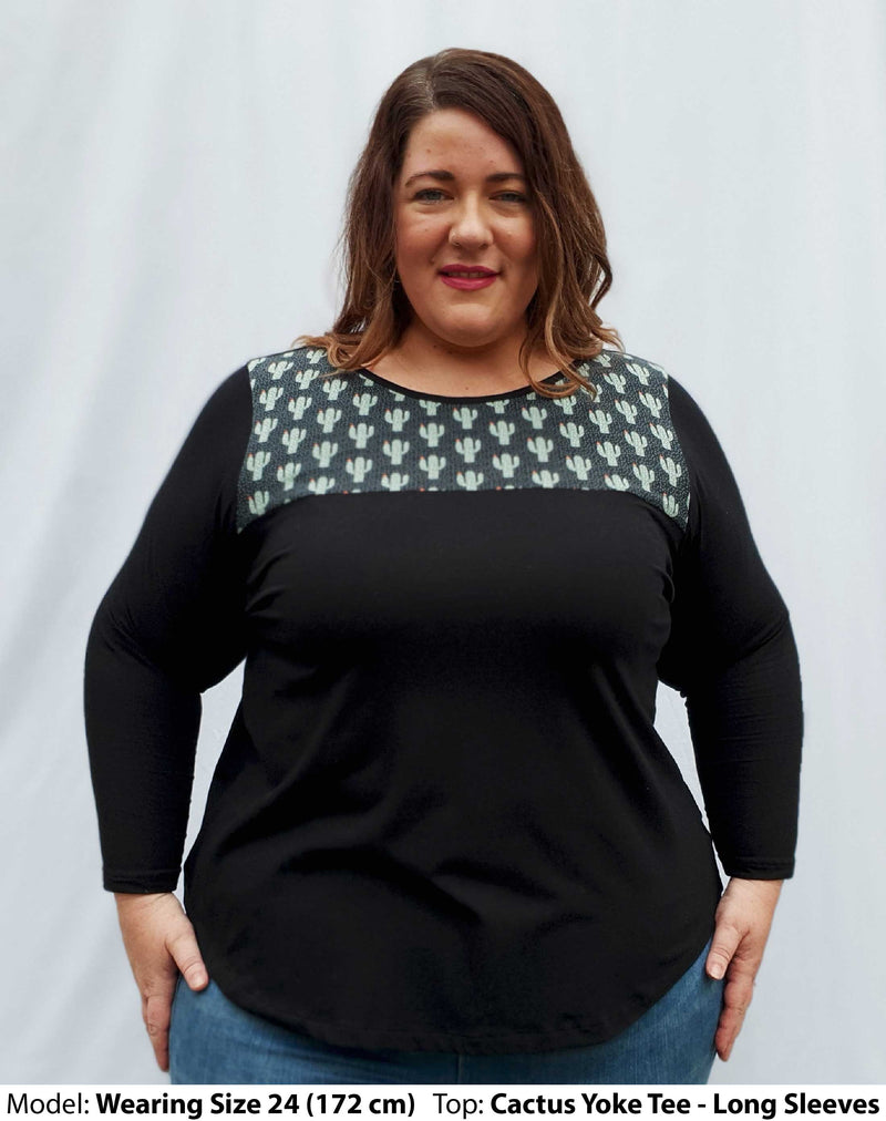 Shop Plus Size Tops | Plus Size Cactus Feature Stretch Tees