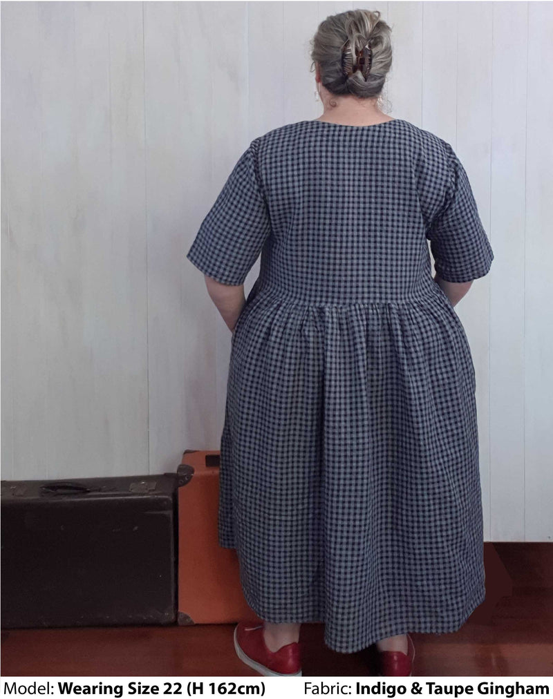 Shop Plus Size Dresses | Plus Size Millican Frock Cotton Linen Gingham