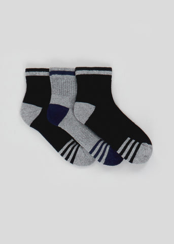 Kids 3 Pack Sports Socks (Younger 6-Older 6.5) B300266