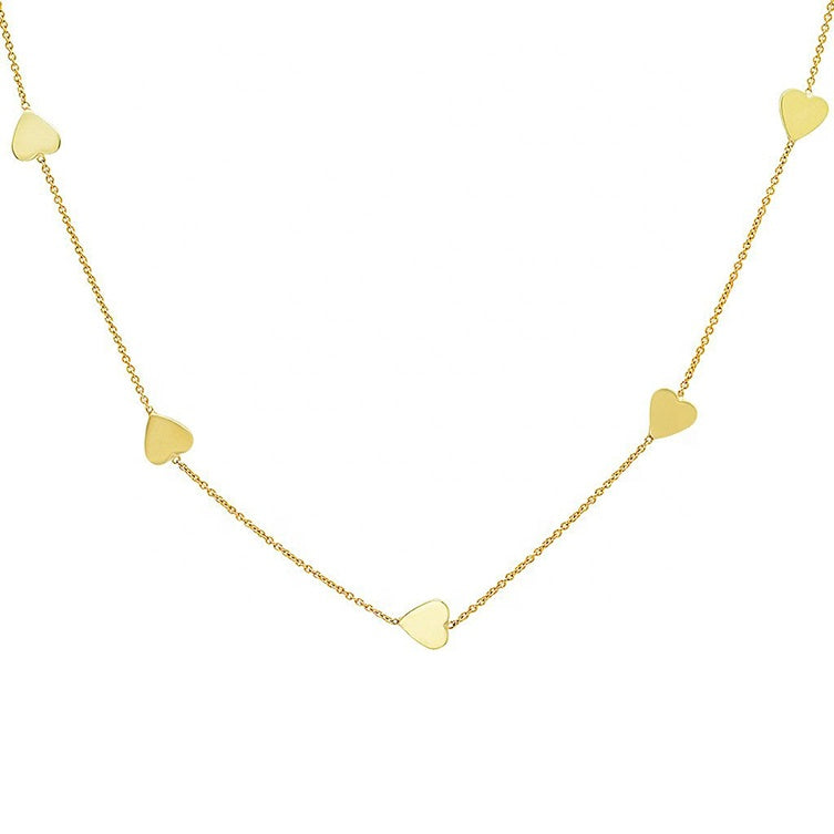 Sienna Linked Heart Necklace
