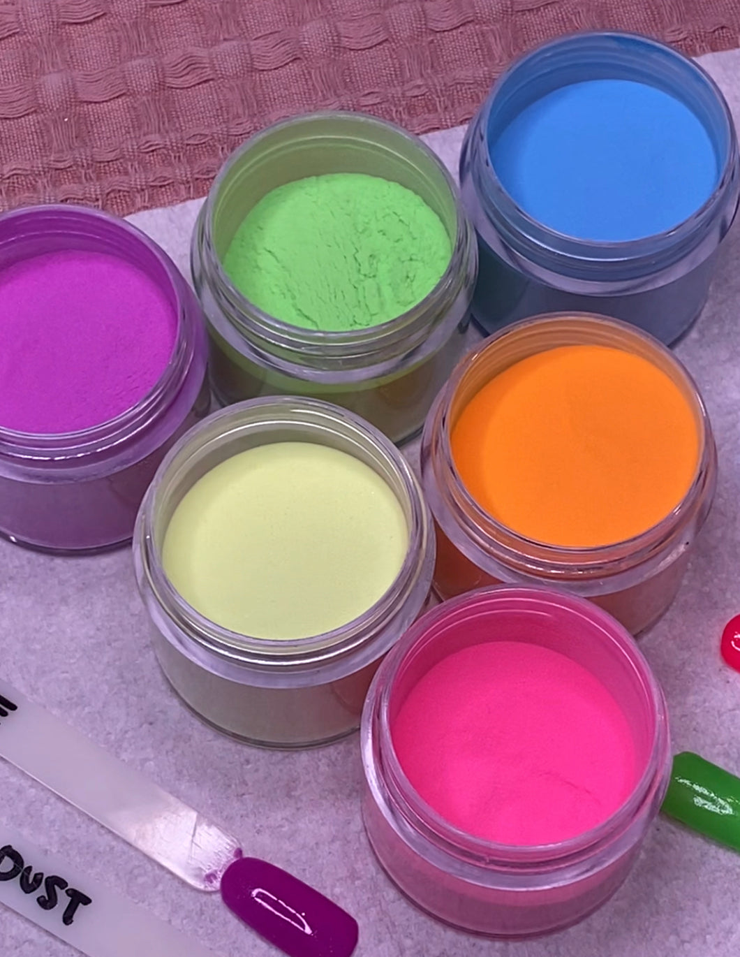 Highlighter Dip Powder Range - Neon Powders