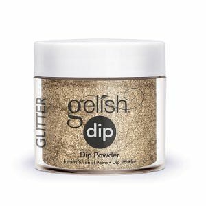 Gelish Dip Powder Glitter & Gold