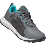 KEEN-womens-explore-waterproof-1022023_Steel Grey/Bright Turquoise