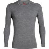 Men's 260 Tech Long Sleeve Crewe-Icebreaker-Gritstone Heather-S-Uncle Dan's, Rock/Creek, and Gearhead Outfitters