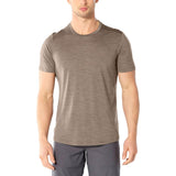 Icebreaker Men's Cool-Lite Sphere Short Sleeve Crewe-104570_Driftwood Heather
