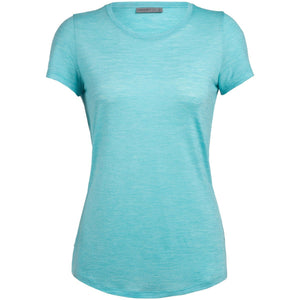 Women's Cool-Lite Sphere Short Sleeve Low Crewe-Icebreaker-Lagoon-XS-Uncle Dan's, Rock/Creek, and Gearhead Outfitters