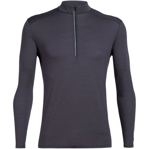 Men's Cool-Lite Amplify Long Sleeve Half Zip-Icebreaker-Panther-M-Uncle Dan's, Rock/Creek, and Gearhead Outfitters