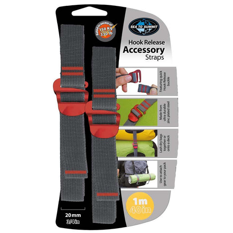 "20mm Accessory Straps with Hook Release 1M/40""-Sea to Summit-Uncle Dan's, Rock/Creek, and Gearhead Outfitters"