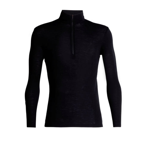 Men's 175 Everyday Long Sleeve Half Zip-Icebreaker-Black-S-Uncle Dan's, Rock/Creek, and Gearhead Outfitters
