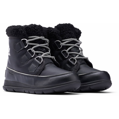 Women's Sorel Explorer Carnival Boot - Clearance-Sorel-Black/Sea Salt-7-Uncle Dan's, Rock/Creek, and Gearhead Outfitters