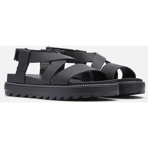 Women's Roaming Criss Cross Sandal - Clearance-Sorel-Black-6-Uncle Dan's, Rock/Creek, and Gearhead Outfitters